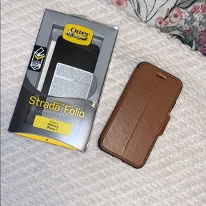 Otter box iphone7/8 leather case